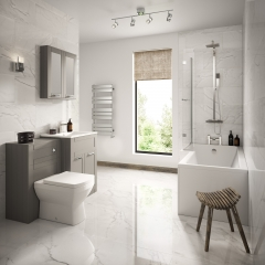 Image by Cyan Studios - Better Bathrooms - Modern Light Grey Bathroom