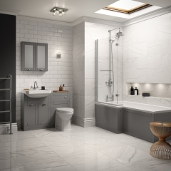 Image by Cyan Studios - Better Bathrooms - Traditional Grey Bathroom
