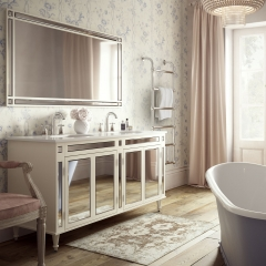 Image by Cyan Studios - C.P.Hart - Imogen Traditional Decor Pink Stylish Bathroom