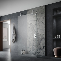 Image by Cyan Studios - Hudson Reed - Floating Single Screen Dark Marble Effect Bathroom