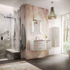 Image by Cyan Studios - Hudson Reed - Sarenna Modern Geometric Bathroom Shower