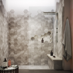 Image by Cyan Studios - Hudson Reed - Sarenna Modern Moody Geometric Bathroom Shower