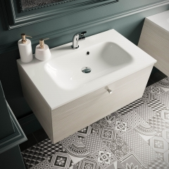 Image by Cyan Studios - Symphony - Cararra Decor Ornate Wall Vanity Bathroom Sink