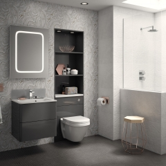Image by Cyan Studios - Symphony - Fiora Anthracite Pattern Bathroom