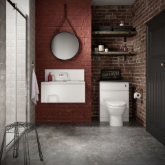 Image by Cyan Studios - Symphony - San Marco Brick Wall Bathroom Suite