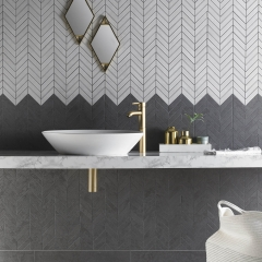 Image by Cyan Studios - Verona - Izen Black and Chevron Mosaic