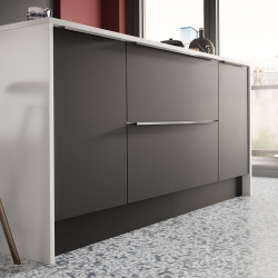 Image by Cyan Studios - Symphony - Inline Plaza Cobble Grey Kitchen Cabinets