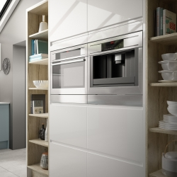 Image by Cyan Studios - Symphony - New York Blue Tall Kitchen Units