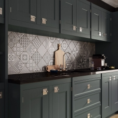 Image by Cyan Studios - British Ceramic Tiles - Alta Matt Anthracite & Rustic Oak Kitchen
