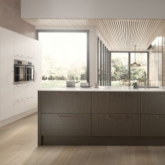 Image by Cyan Studios - Symphony - Alta Dark Walnut & Matt White Kitchen