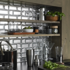 Image by Cyan Studios - Tile Giant - Silver Glass Tiles