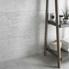 Image by Cyan Studios - Bathstore - Southbank White Textured Tile