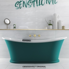 Image by Cyan Studios - British Ceramic Tile - Sensational Bath Statement White Tiles