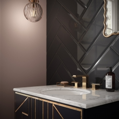 Image by Cyan Studios - British Ceramic Tile - V&A White Marble Metro Bathroom Sink