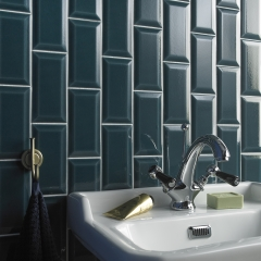 Image by Cyan Studios - Peacock-  Crackle Glaze Bathroom