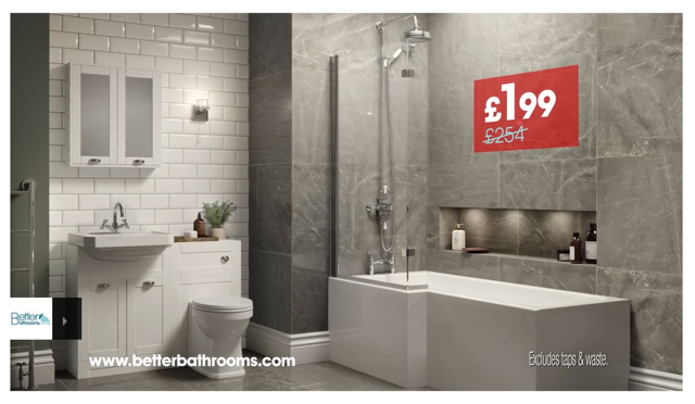 Better Bathrooms Website CGI Images by Cyan Studios