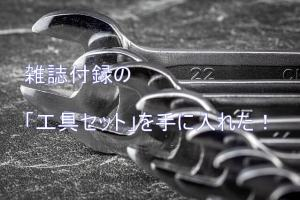 雑誌付録の工具セット