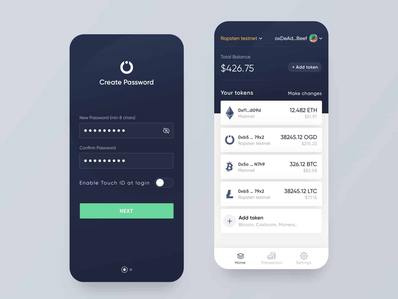 Crypto Currency App UI in Flutter ( Source Code ) - Cybdom Tech