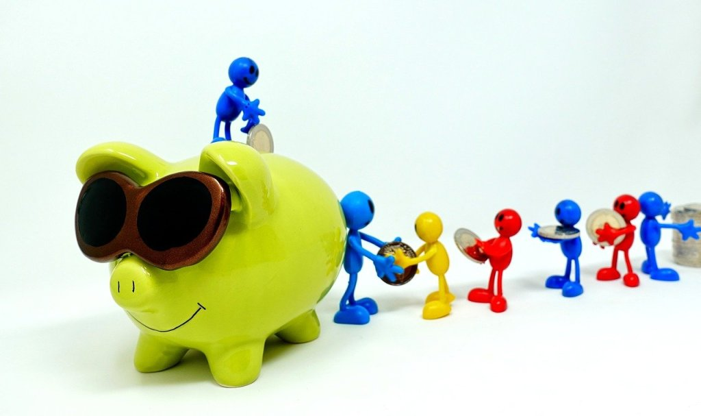 save, piggy bank, teamwork