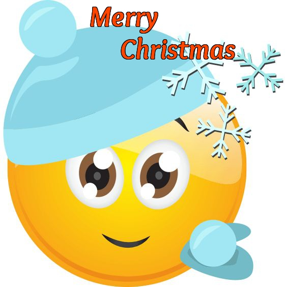 Free Emoji Christmas Card