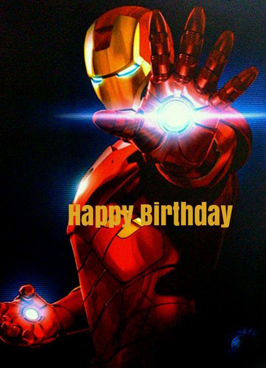 Iron Man Birthday Ecards