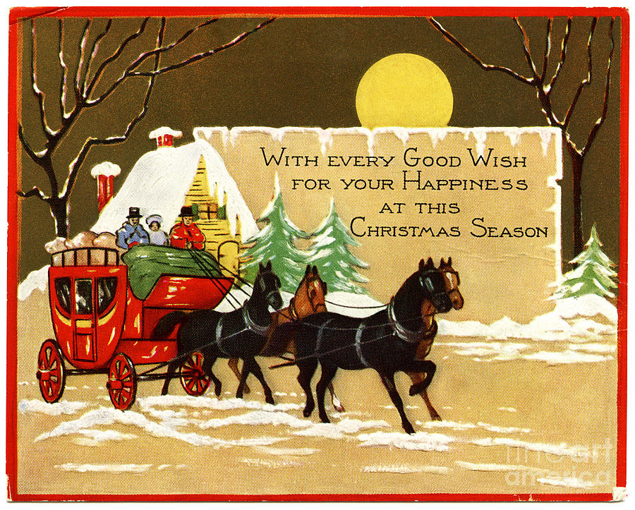 FREE Victorian Christmas Greeting Cards