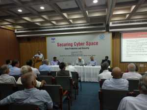 Panelists of Special Session (From L to R: Pavithran Rajan on the mic, Shilohu Rao, PC Haldar, Satish Jha, Dominic Karunesudas)