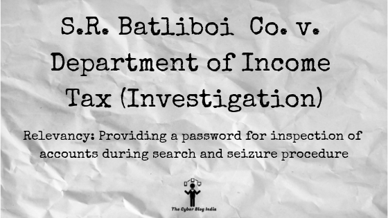 S.R. Batliboi Co. v. Department of Income Tax (Investigation)