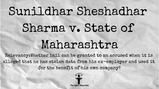 Sunildhar Sheshadhar Sharma v. State of Maharashtra