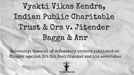 Vyakti Vikas Kendra, Indian Public Charitable Trust & Ors v. Jitender Bagga & Anr