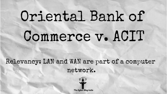 Oriental Bank of Commerce v. ACIT