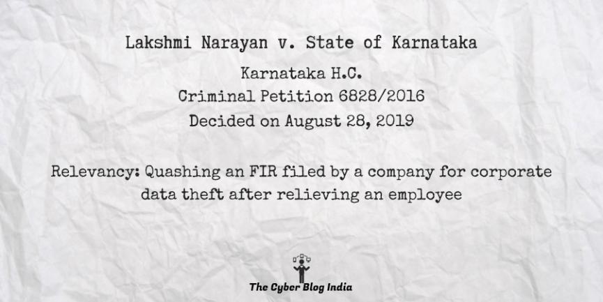 Lakshmi Narayan v. State of Karnataka