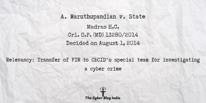 A. Maruthupandian v. State