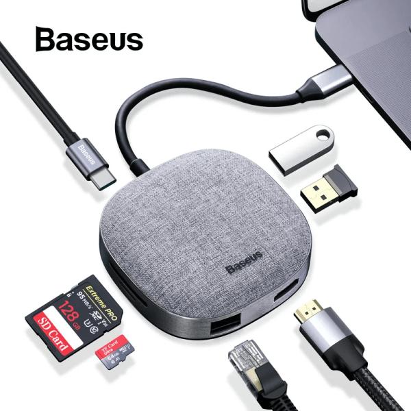 Baseus Fabric Series 7 in 1 Type C Multifunctional Hub Adapter 1