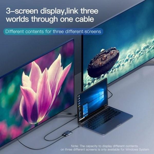 Baseus Enjoy Series Type C to HDMI2 PD Hub Adapter 3