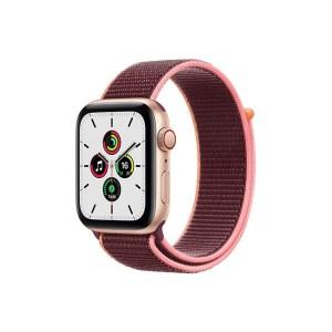 Apple Watch SE 44MM Gold Aluminum GPS Cellular Plum Sport Loop