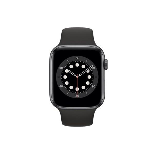 Apple Watch Series 6 42mm Space Gray Aluminum GPS Black Sport Band 1