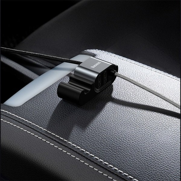Baseus Special Data Cable for Car Backseat Lightning Dual USB Hub 8