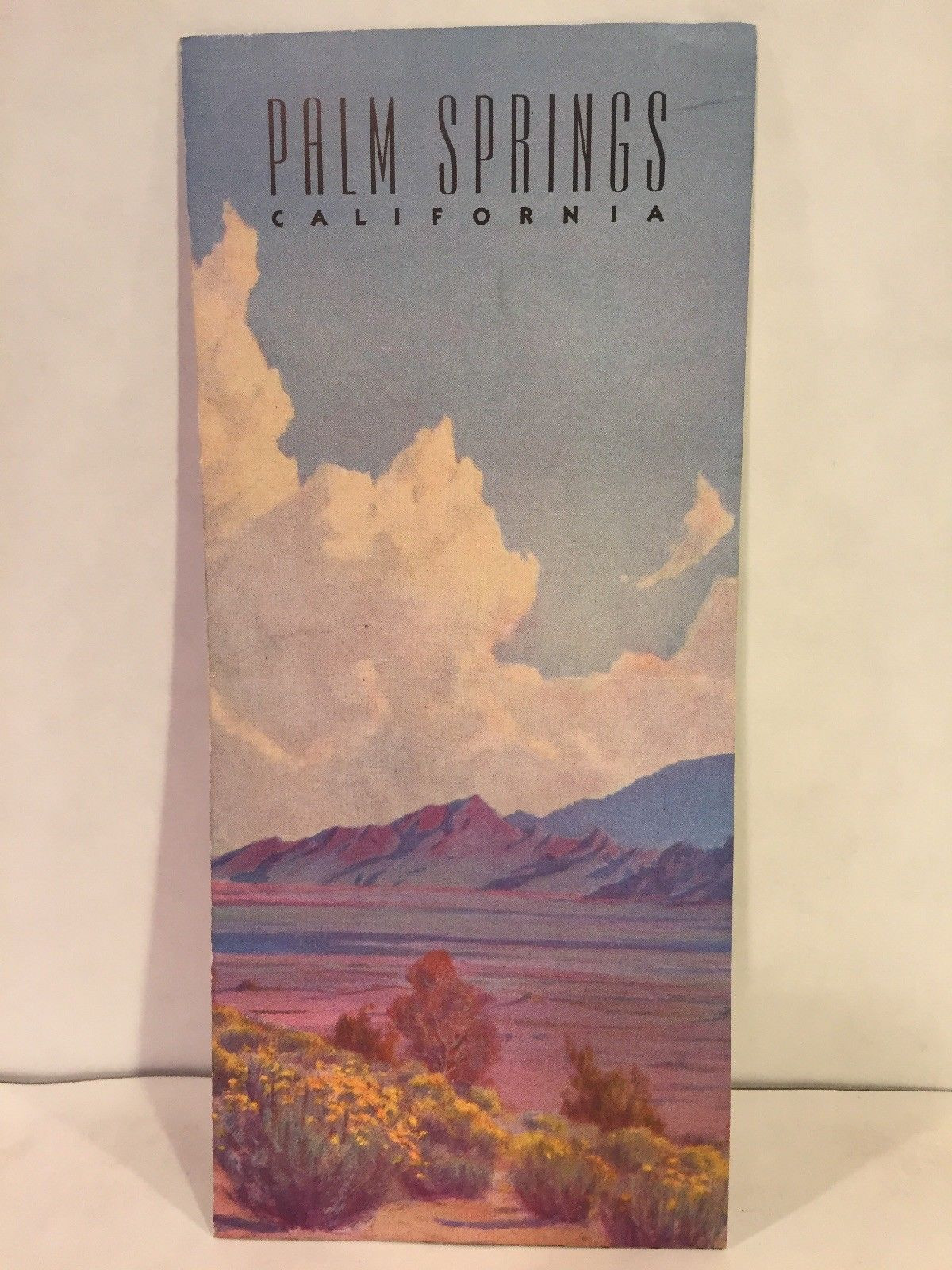 1942 Palm Springs California Travel Brochure Watercolor Polo Tennis Swimming