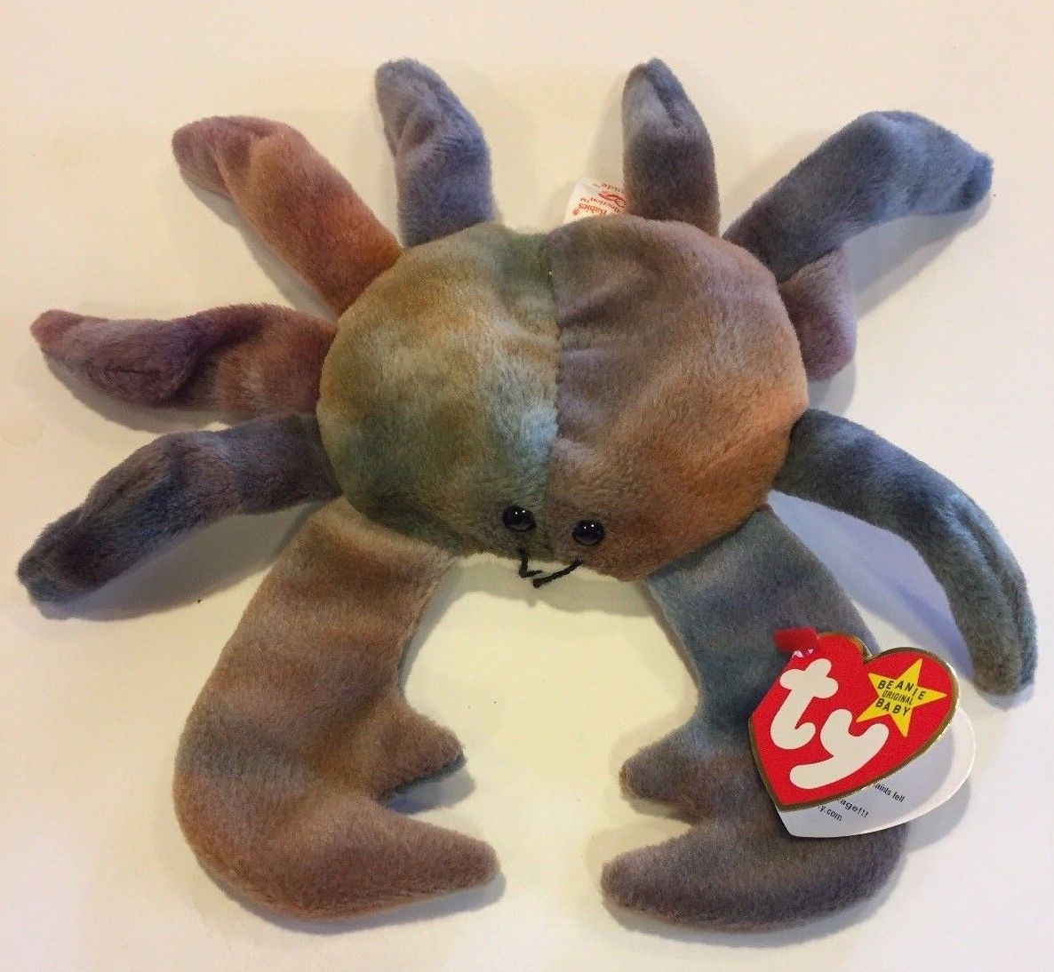 TY Beanie Baby ~ CLAUDE the Crab ~ NWT 9 3 1996 MAYBE ERROR - Cyber ... 990cd2e925b