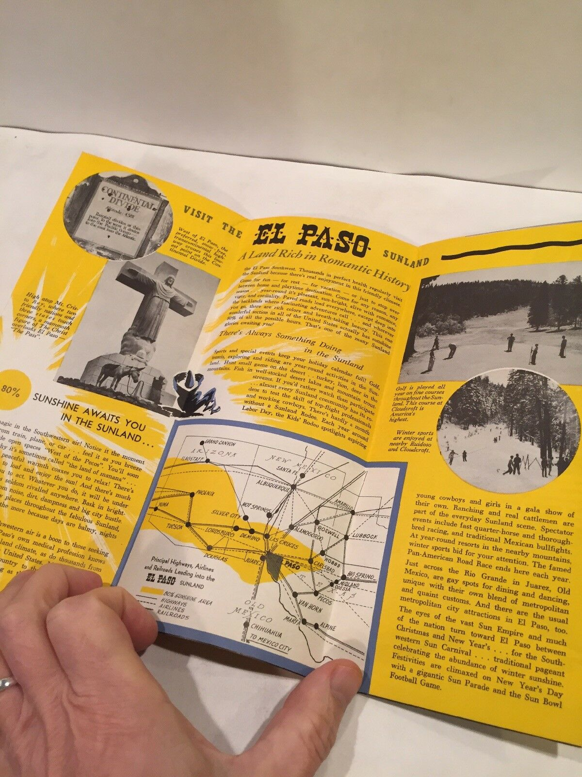 1950 EL PASO TEXAS SUNSHINE PLAYGROUND OF THE BORDER Travel Brochure Map Of Alamogordo And El Paso on map of houston, map of eastern id, map of liberal, map of corbin, map of nolan county, map of austin, map of tampa st petersburg, map of beebe, map of hamtramck, map of culiacan, map of indiana in, map of santa teresa, map of rio rico, map arizona, map of young county, map of ft bliss, map of wilkes-barre, map of cancún, map of colonial heights, map of ft stockton,