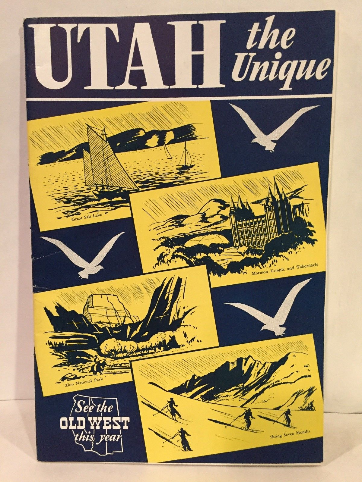 1946 Utah The Unique See the Old West Travel Brochure Booklet 32 pages EX  COND