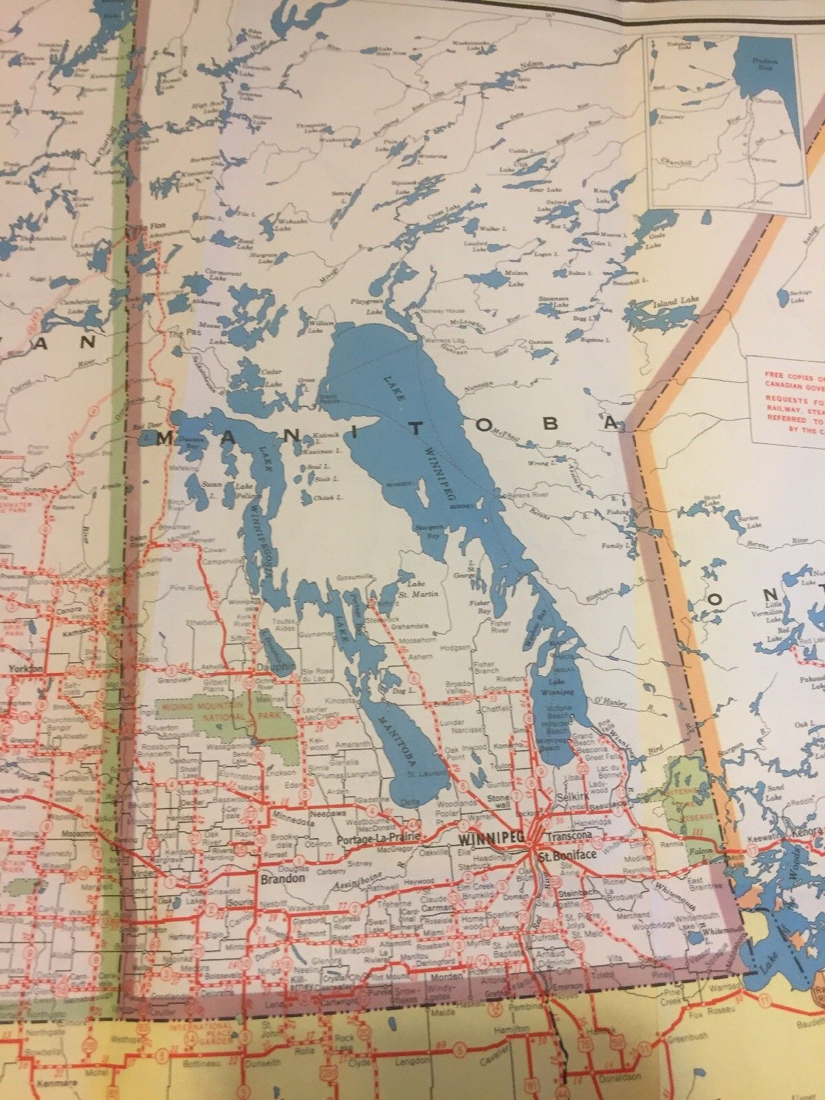 Highway Map Of Canada And Northern United States Canadian Travel Bureau 1955