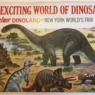 2 Exciting World of Dinosaurs Sinclair Dinoland NY World/'s Fair Promo Booklets