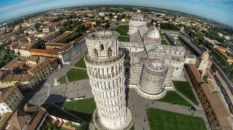 Torre inclinada de Pisa, Italia.
