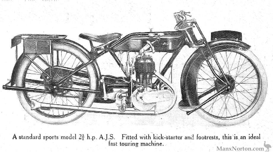 AJS 1922 Models