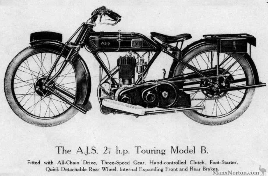 AJS 1924 Model B Touring Single