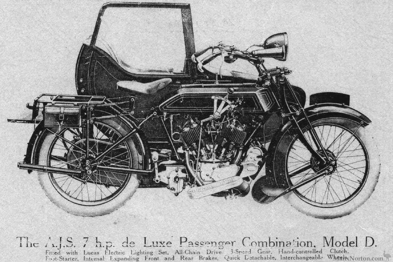 AJS 1924 Model D 7hp Combination