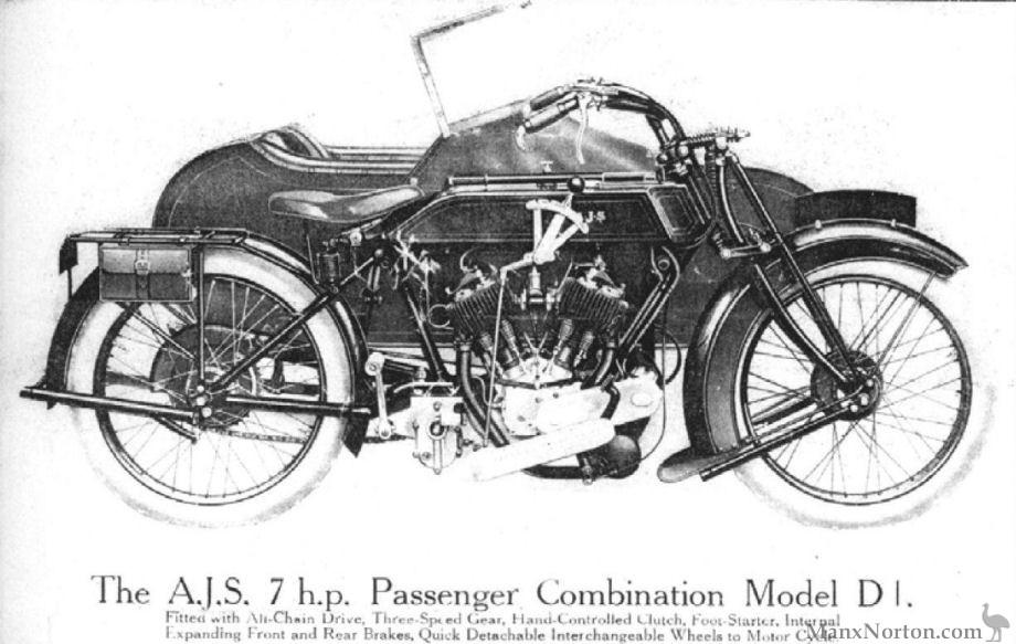 AJS 1924 Model D1 7hp Combination