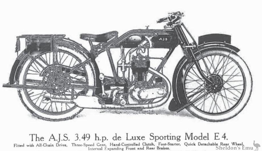 AJS 1925 Model E4 3.49 h.p.